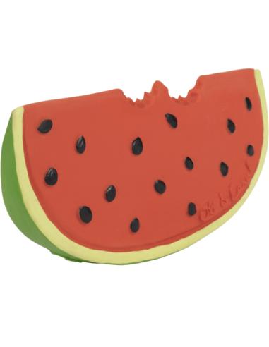 Oli & Carol Bijtspeeltje Wally the Watermelon - Watermeloen