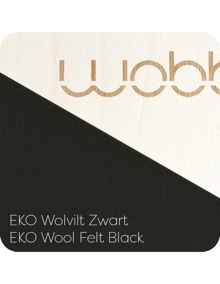 Original Blank gelakt met vilt Zwart