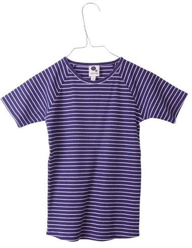 T-shirt Navy Ribbed