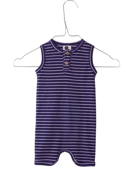 Sunsuit Navy Ribbed