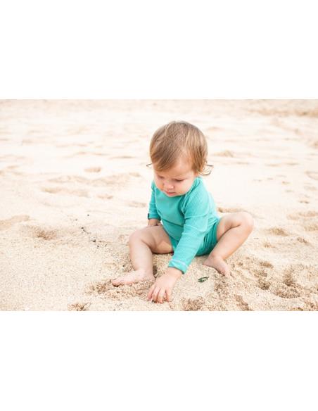 UV-babysuit Lagune Ribbed