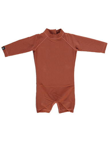 UV-babysuit Earth Ribbed