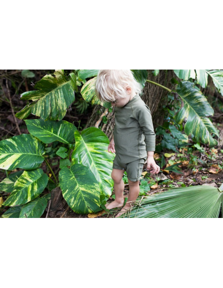 UV-babysuit Palm Ribbed