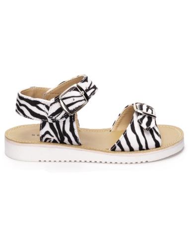 Bear & Mees Sandaal Zebra