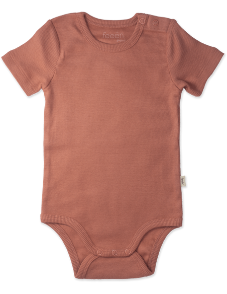 Shortsleeve Romper Clay