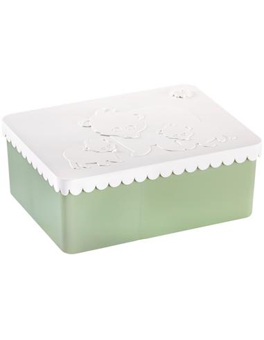 Lunchbox Ijsbeer mint + wit 3 compartimenten