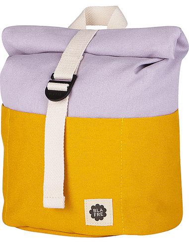 Blafre Roll-top rugzak 3-7 jaar geel + lila