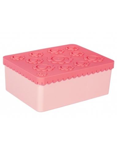Blafre Lunchbox Bloemen roze 3 compartimenten