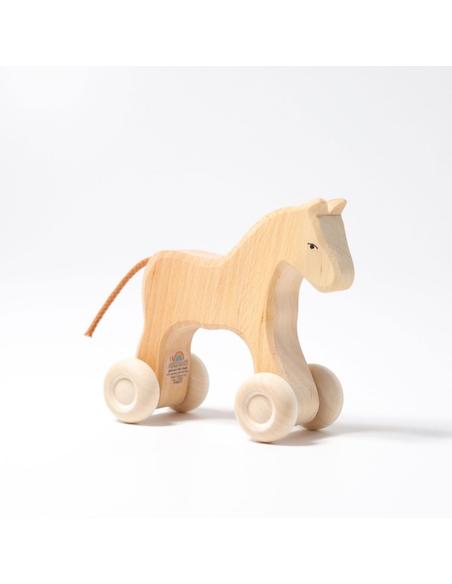 Houten Paard op Wielen