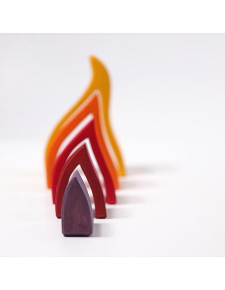 Houten Element Vuur Groot