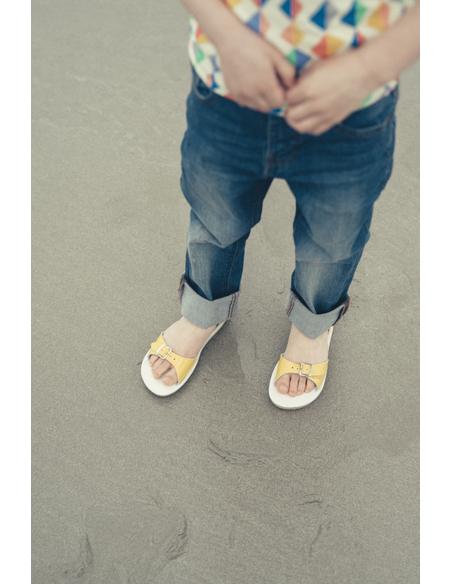Salt Water Sandals Surfer Shiny Yellow