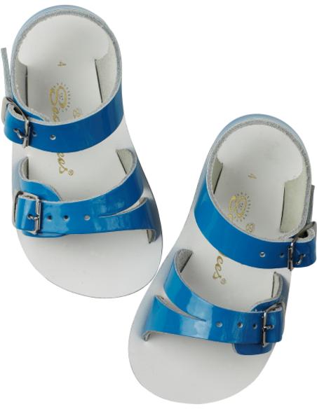 Salt Water Sandals Seawee Shiny Turquoise