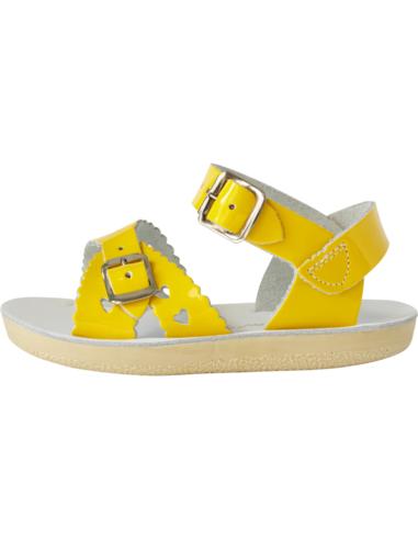 Salt Water Sandals Sweetheart Shiny Yellow