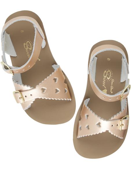 Salt Water Sandals Sweetheart Rose Gold