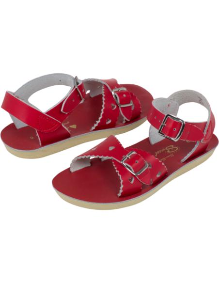 Salt Water Sandals Sweetheart Red