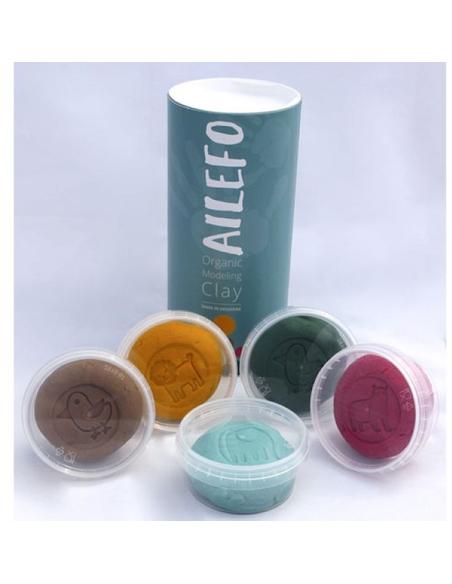 Organische Speelklei Maxiset ( 5 kleuren van 160 gram)