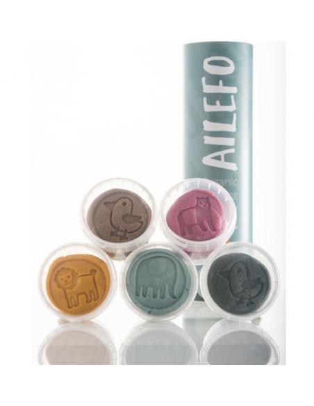Organische Speelklei Miniset (5 kleuren van 100 gram)