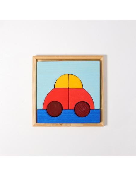 Houten Puzzel Auto