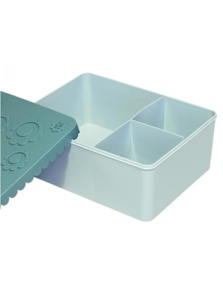 Blafre Lunchbox Bloemen blauw 3 compartimenten