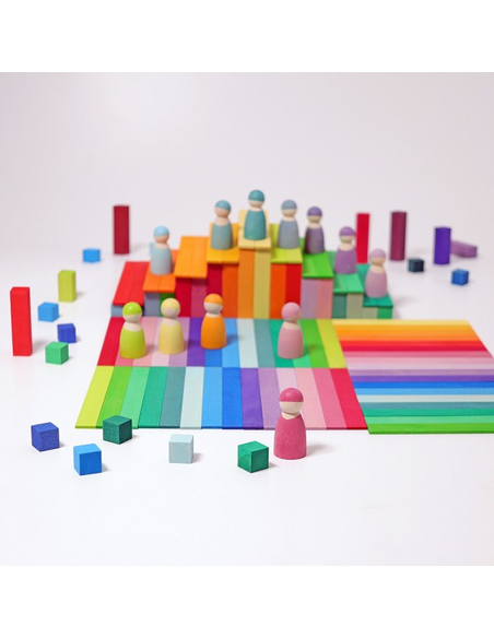 Houten Blokkenset Piramide Klein