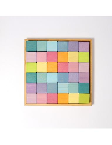 Grimm's Houten Kubussen Pastel (36 stuks)