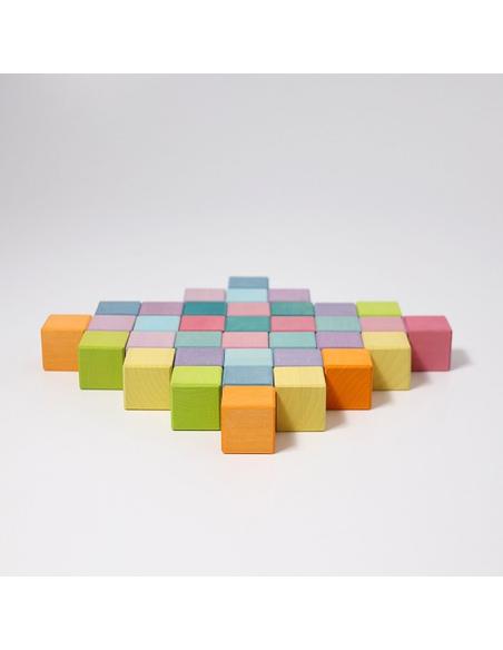 Houten Kubussen Pastel (36 stuks)
