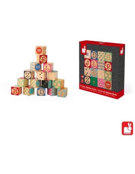 Kubix - Alfabet Blokken (16 stuks)