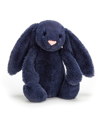 Knuffel Bashful Navy Bunny Medium