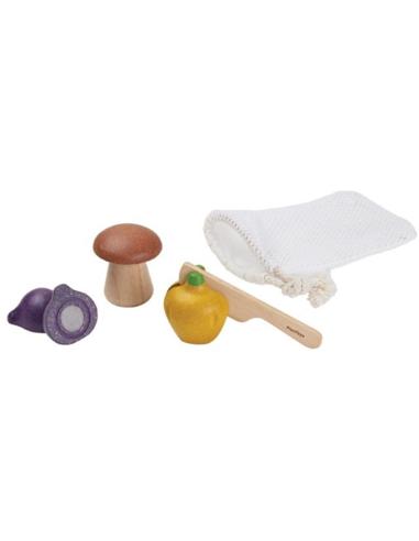 Plan Toys Houten Groente Set in Zakje