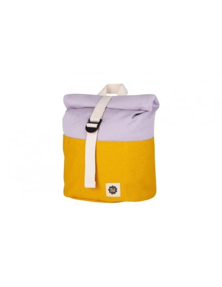 Blafre Roll-top rugzak 1-4 jaar geel + lila