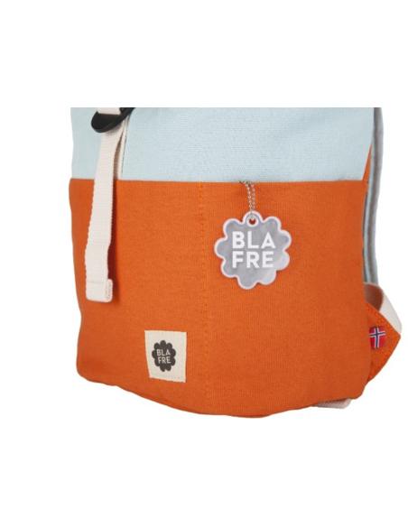 Blafre Roll-top rugzak 1-4 jaar oranje + lichtblauw