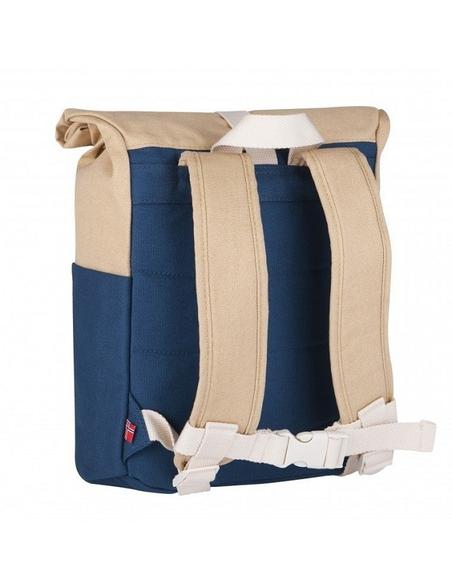 Blafre Roll-top rugzak 3-7 jaar blauw + beige