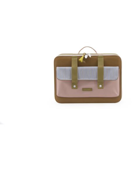 Koffer Deluxe Sugar Brown + Mendl's Pink