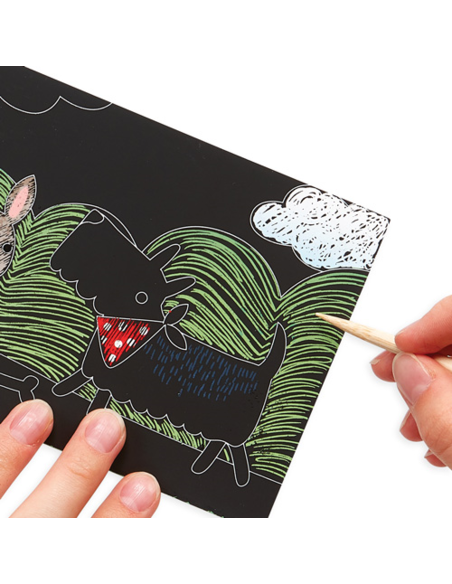 Mini Scratch & Scribble Art Kit - Playful Pups