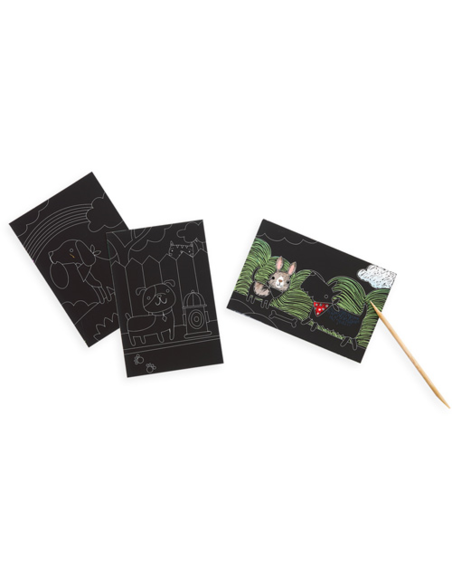 Mini Scratch & Scribble Art Kit - Playful Pups