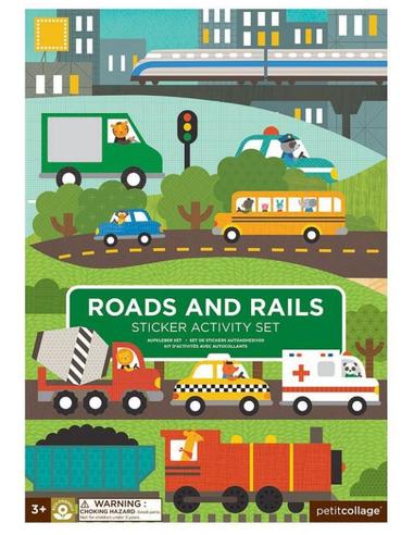 Stickerset Wegen en Treinbanen (100 stuks)