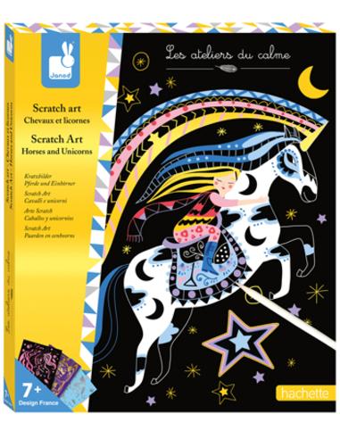 Janod Scratch Art - Paarden en Eenhoorns