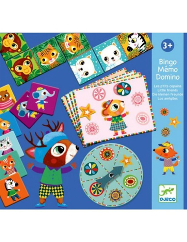 Djeco Domino, Memory en Bingo (3 spelletjes)
