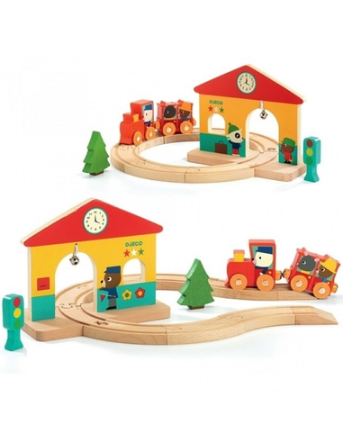 Houten Mini Trein Set