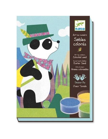 Gekleurd Zand Panda en zijn vriendjes