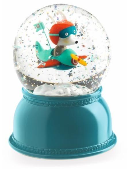 Sneeuwbol Nachtlampje Vliegtuig
