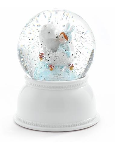 Sneeuwbol Nachtlampje Lila en Pupi