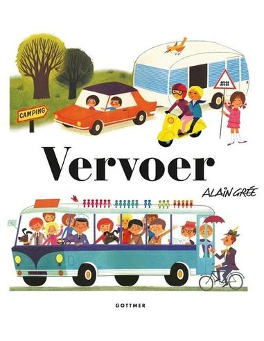 Vervoer, peuterboek in retro-look 3+