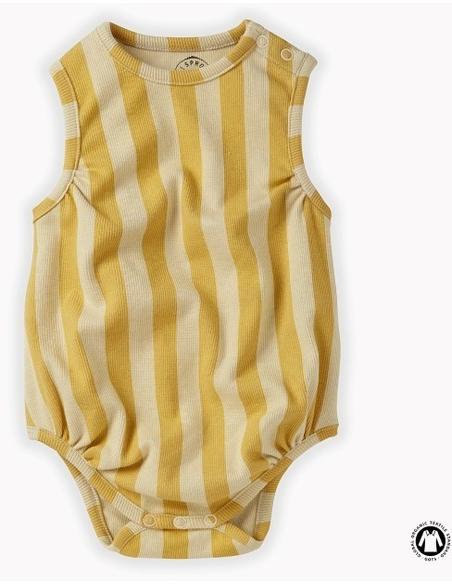 Romper loose stripe Mellow Yellow