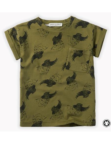 T-Shirt print Cockatoo Tropical Green