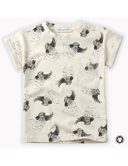 T-Shirt print Cockatoo Summer White