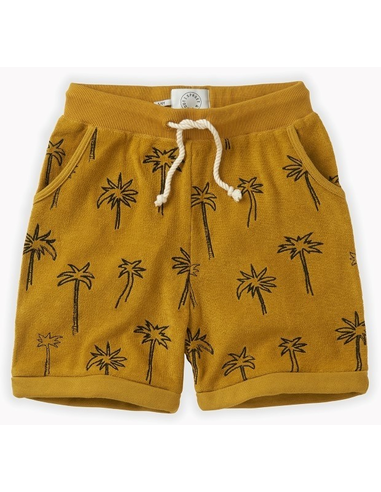 Shorts terry Palm Tree