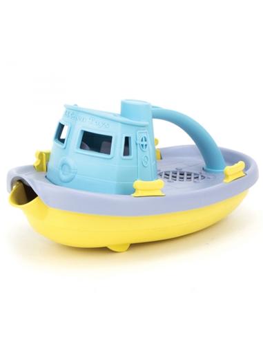 Sleepboot met blauw handvat