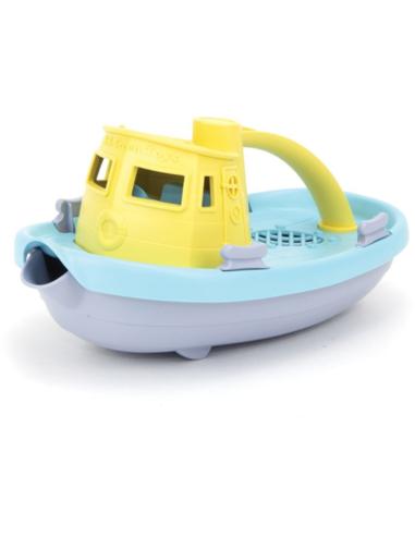 Green Toys Sleepboot met geel handvat