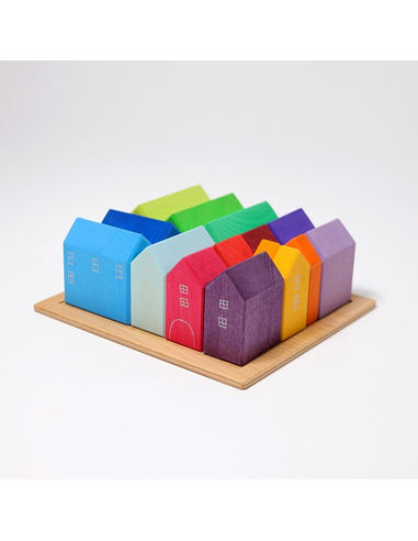 Houten Blokkenset Huisjes